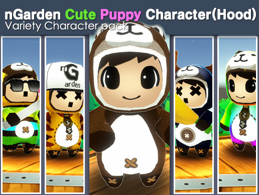 Cute Puppy Character (hood)