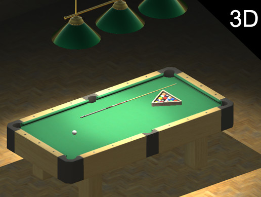 Pool Table Billiard Board Cue Ball Red Blue Green