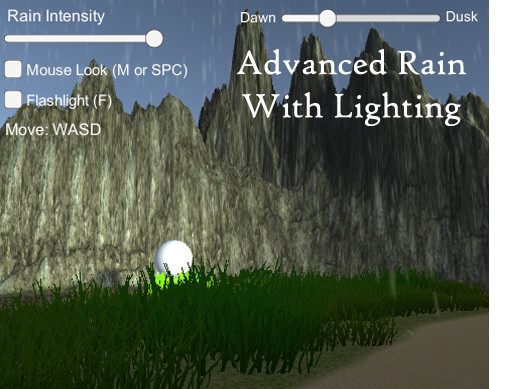Rain Maker - 2D and 3D Rain Particle System for Unity