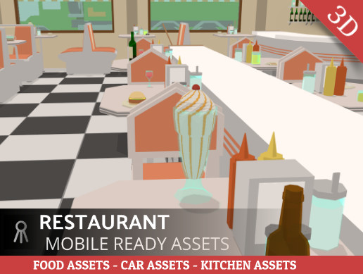 Restaurant Cartoon Assets