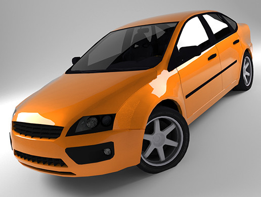 3D Low Poly Car For Games (Tocus)