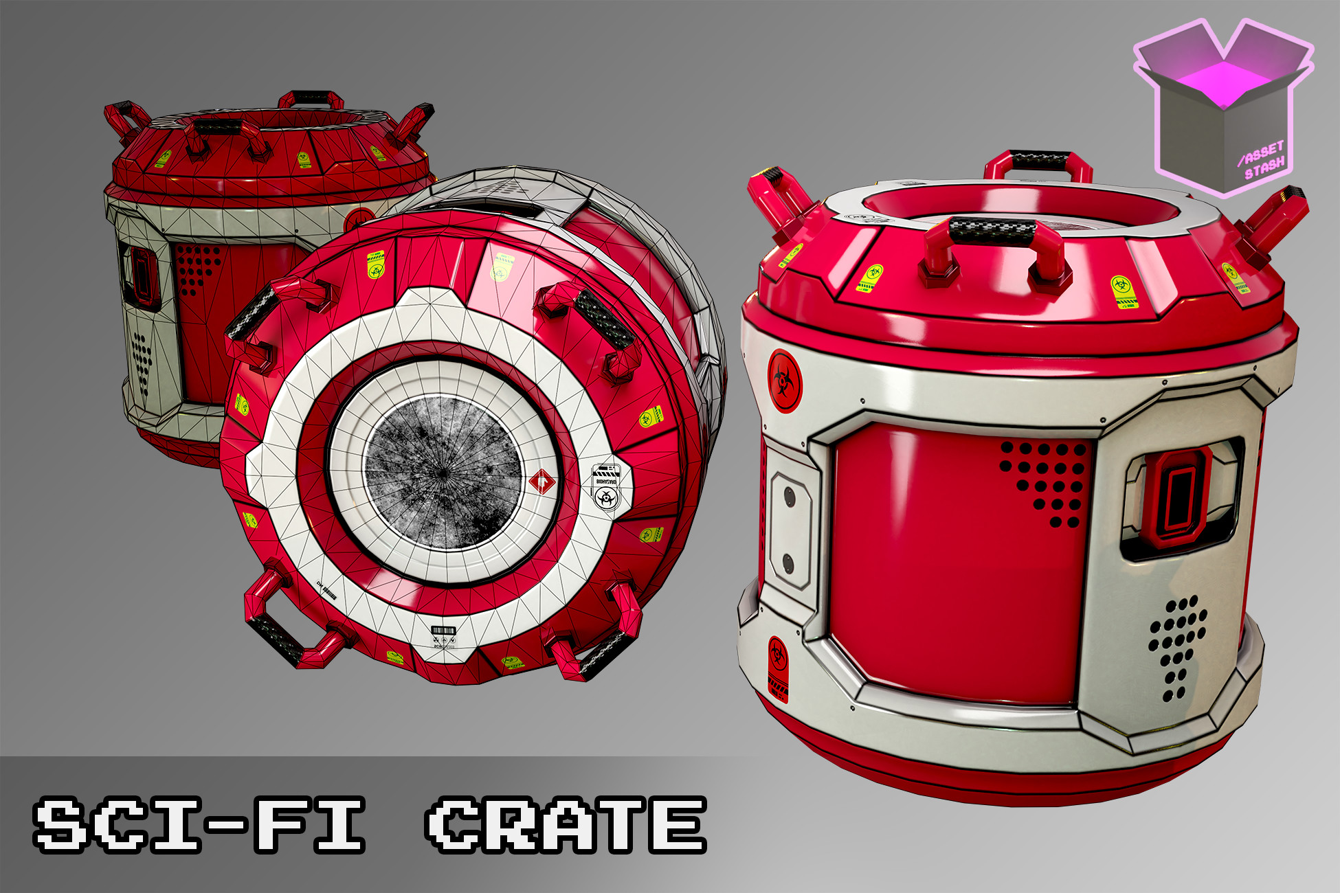 Sci-Fi Crate Low Poly Free [URP]