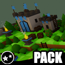 Forest - Low Poly Toon Battle Arena / Tower Defense Pack