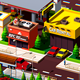 Low Poly City Block B