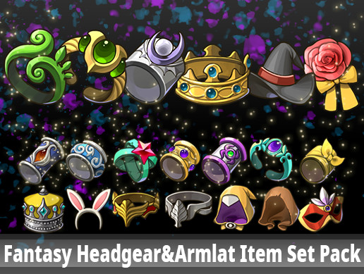 Fantasy Headgear&Armlat Item Set Pack