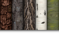 Hand Painted Bark Textures