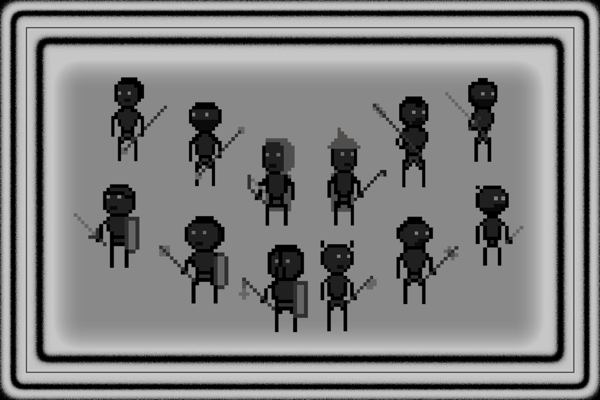 Simple 2D characters level 1