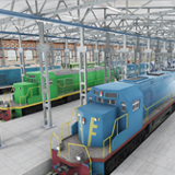 Hangar Scene - Industrial Trains