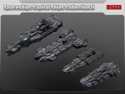 Spaceships Capital Ships Collection II