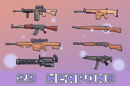 2D Pixel Gun Weapon Pack