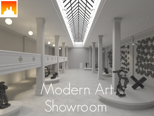 Modern Art Showroom