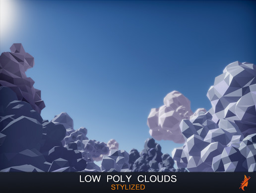 Stylized Low Poly Clouds
