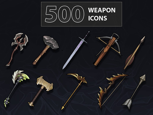 500 Weapon Icons