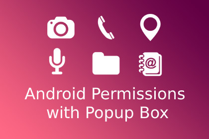 Android Permissions with Popup Box