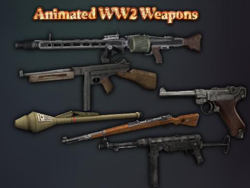 Animated WW2 Weapons