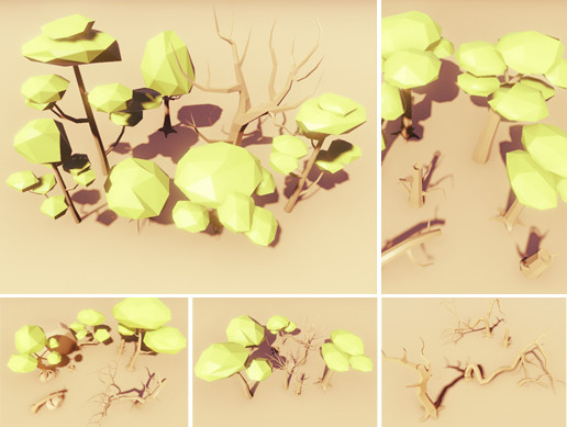 Low Poly Trees Pack - Broad-leaved