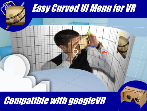 Easy Curved UI Menu for VR