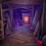 Stylized Poly Cave Formations