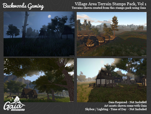 Gaia Stamps Pack Vol 01 - Village Area