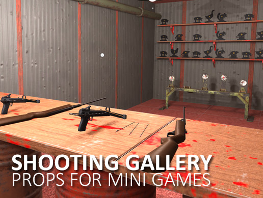 Shooting gallery - props for mini games