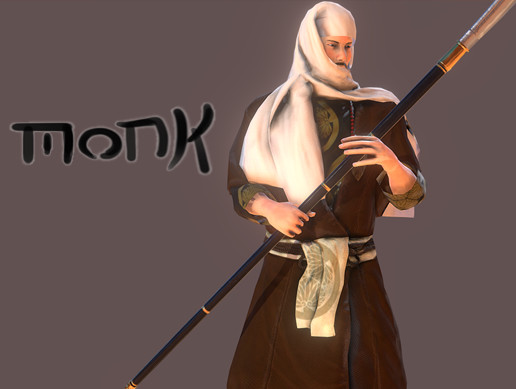 Monk with naginata PBR