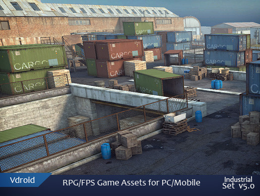 RPG/FPS Game Assets for PC/Mobile (Industrial Set v5.0)