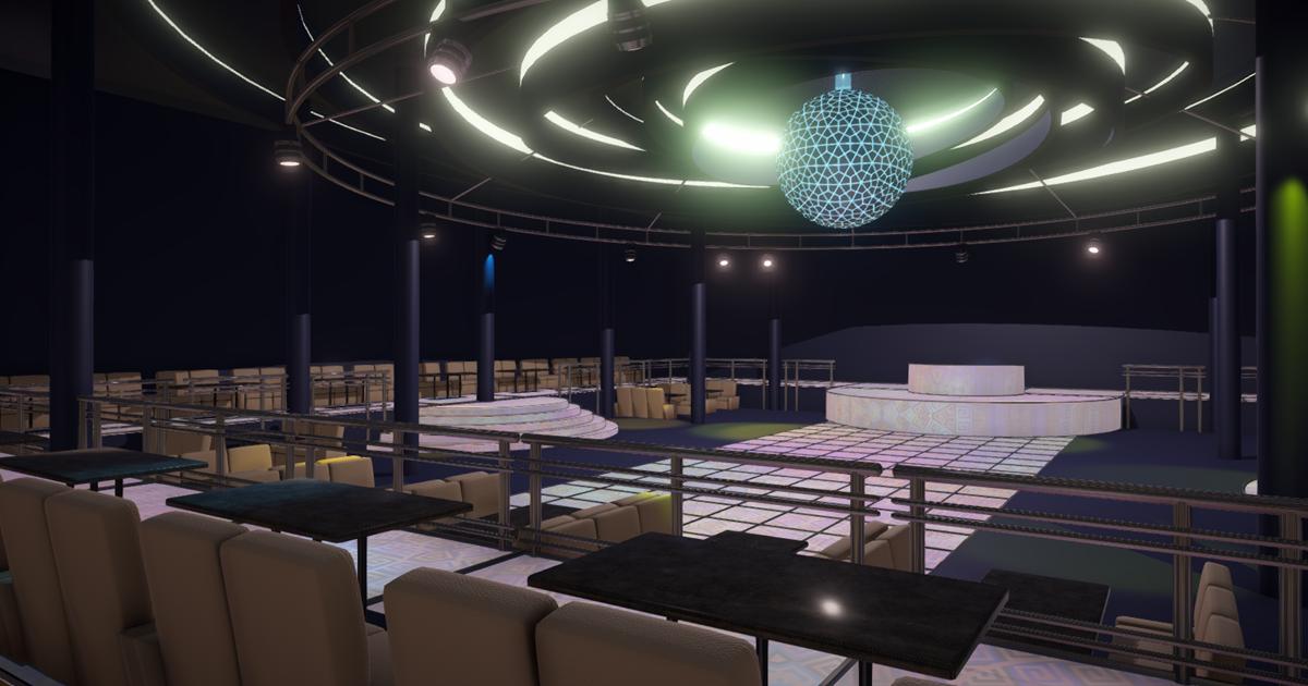 Big night club - interior and props