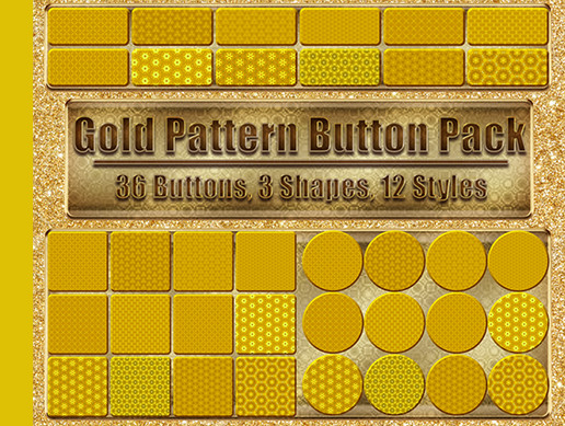 Gold Pattern Button Pack