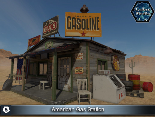 American Gas Station