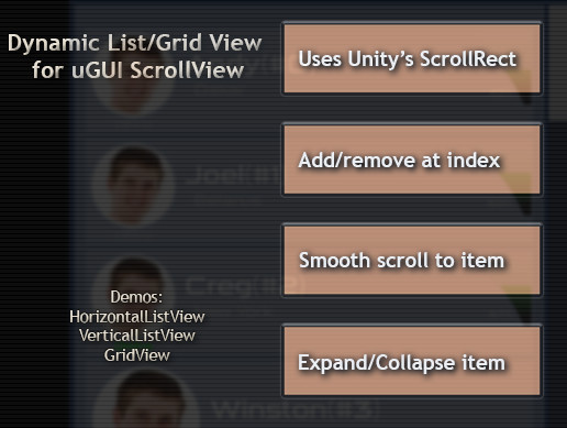 ScrollView Adapter (ListView, GridView) - Asset Store