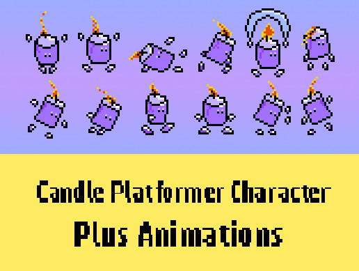 Candle Platformer Character + Animations