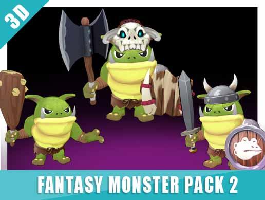 3D Monster pack vol.2