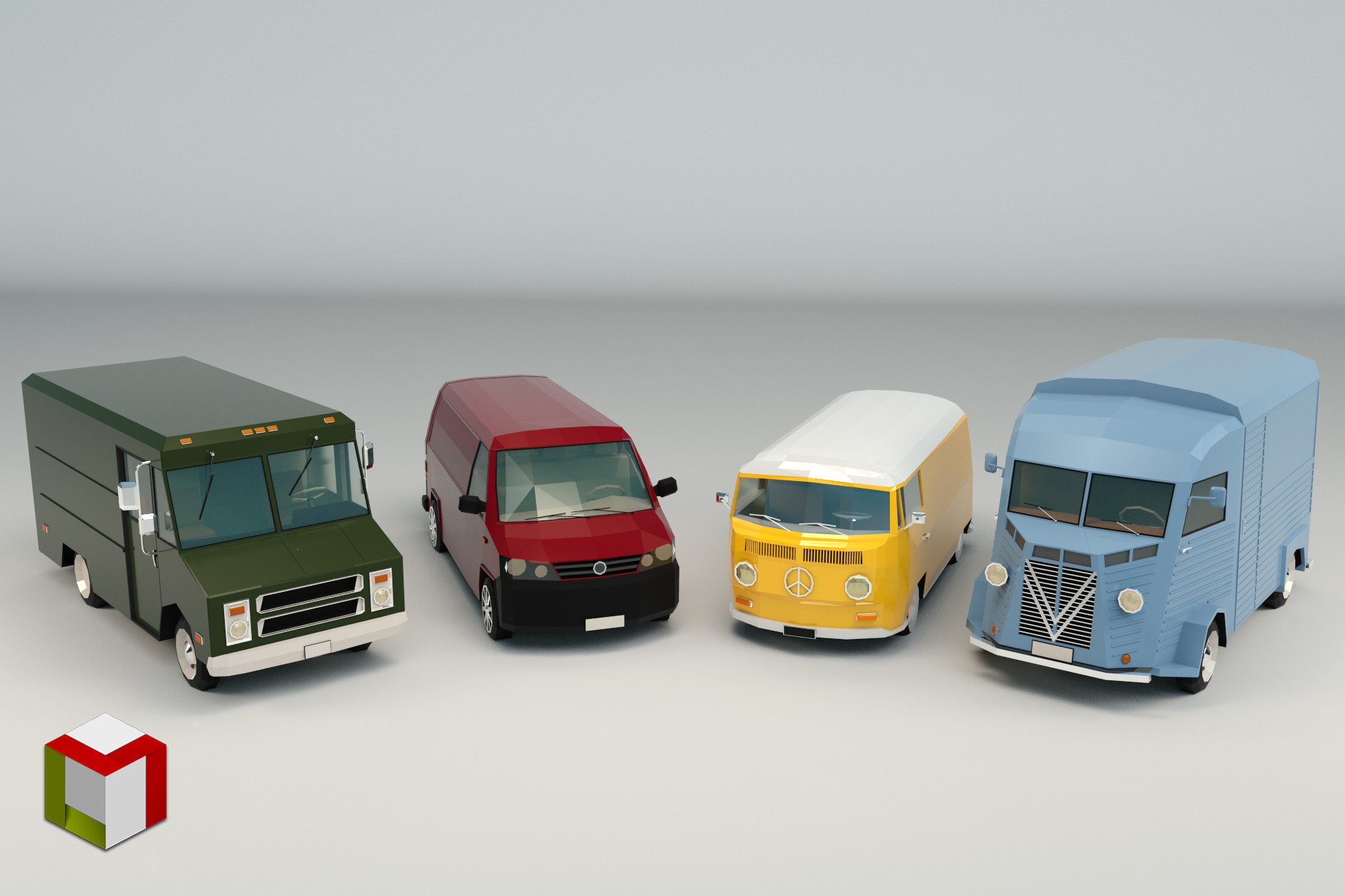 Low Poly Transporter Pack