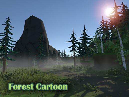 Forest Cartoon stylized