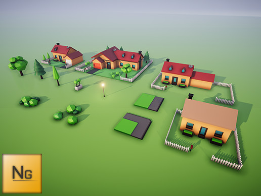 LowPoly City Vol.1 Houses
