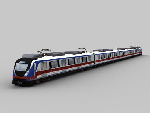 Metro Train with interior