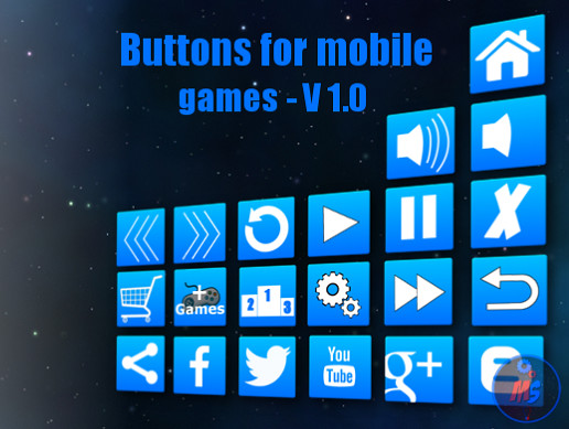 Buttons for mobile games - V 1.0 (UI)