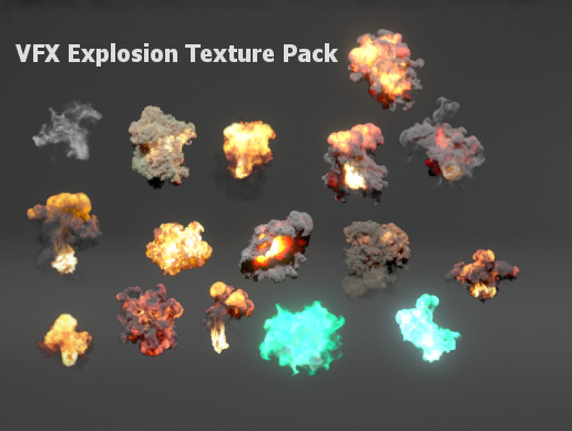 VFX Explosion Texture Pack