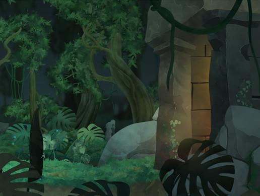Jungle ruines