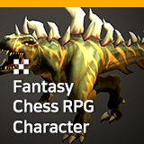Fantasy Chess RPG Character - Trex