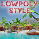 Lowpoly Style Tropical Island Environment