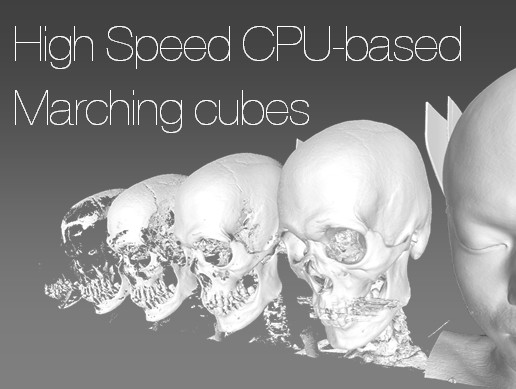 High Speed CPU-based Marching cubes