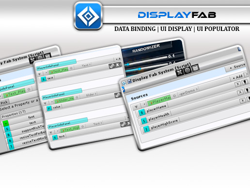 DisplayFab UI Data Binding Display & Instantiation Solution