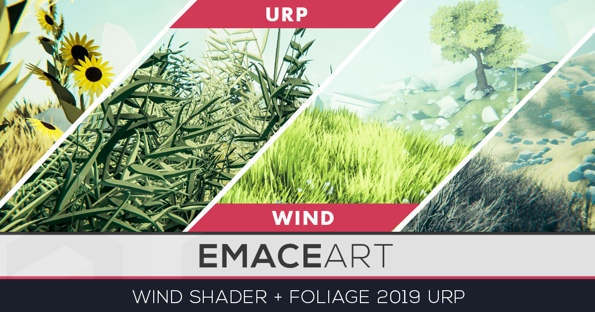 Stylized Vegetation Wind Shader URP 2019