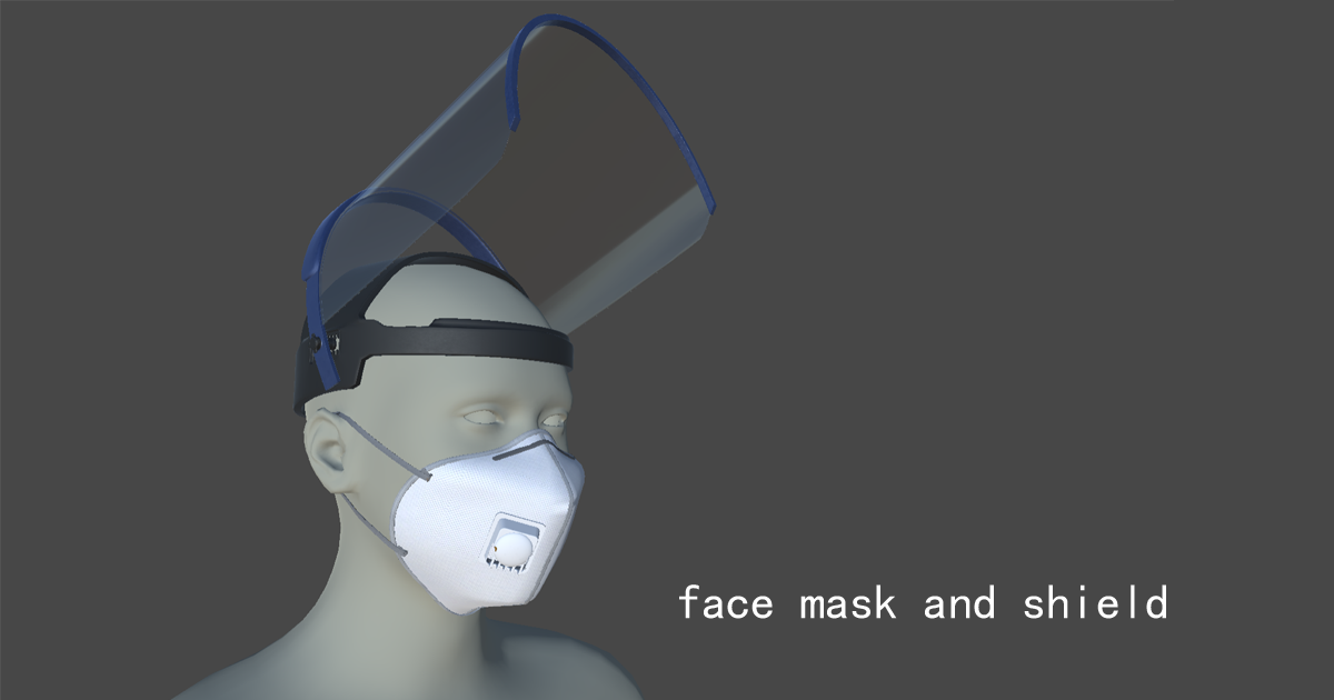 Medical mask and face shield