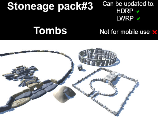 Stoneage pack#3 - Tombs (PBR)