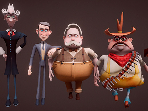 Toon Western Characters Pack