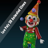 Low Poly 3D Animated Clown