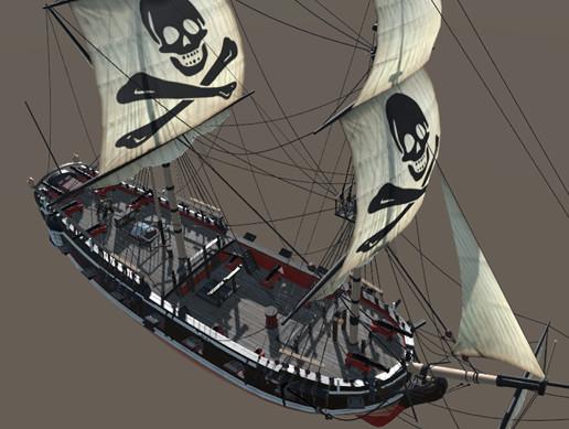 Pirate Brig - 4k PBR Ship