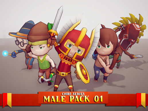 Chibi - Male Pack 01